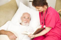 nurse taking care of patient
